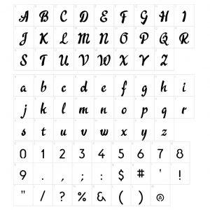 Tiny Namenecklace - font guide