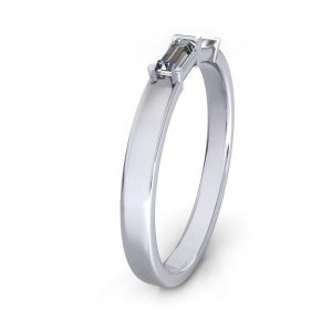 Baguette Promise Ring - side view