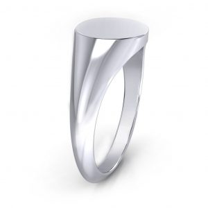 Round Shaped Signet Ring - side view