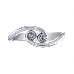 Fashionable Promise Ring - top view