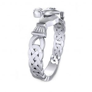 Claddagh Promise Ring - side view