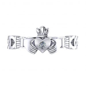 Claddagh Promise Ring - top view