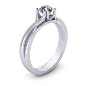 Twisted Engagement Ring - side view