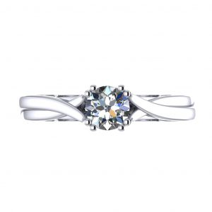 Twisted Engagement Ring - top view