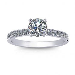 Classic Engagement Ring - white gold