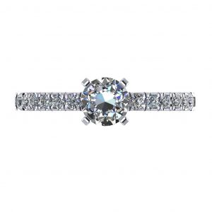 Classic Engagement Ring - top view