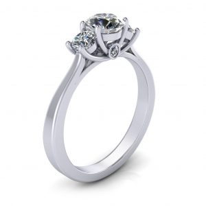 Laura Engagement Ring - side view