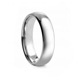 Rounded Polished Tungsten Ring 6mm