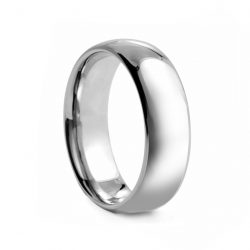 Rounded Polished Tungsten Ring 8mm