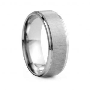 Satin finish Tungston Ring 8mm