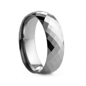 Crystal Cut Tungston Ring 8mm