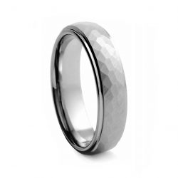 Hummer Finished Tungston Ring 6mm