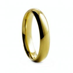 Yellow Rounded Polished Tungston Ring 4mm