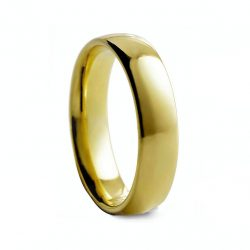 Yellow Rounded Polished Tungston Ring 6mm