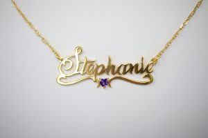 Name Necklace With Heart Design