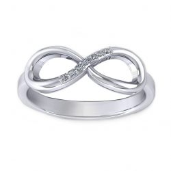 Infinity Ring - white gold