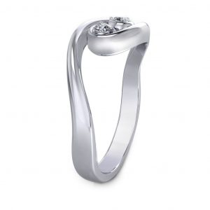 Fashionable Promise Ring - side view