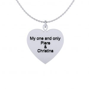 Heart Shape Necklace - engraved