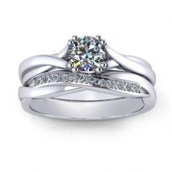 Unique Bridal Set - white gold
