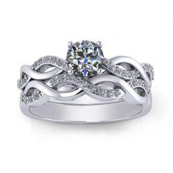 Woven Bridal Set - white gold