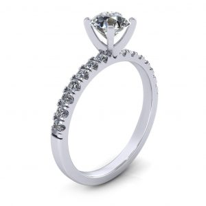 Classic Bridal Set - Engagement Ring - side view
