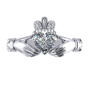 Claddagh Engagement Ring - top view
