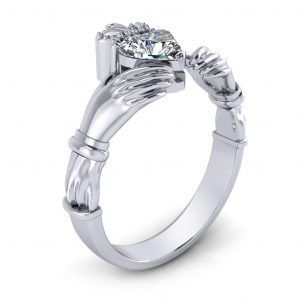 Claddagh Engagement Ring - side view