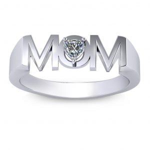 MOM Ring - white gold