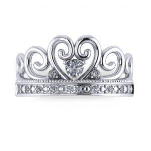 Princess Crown Ring - top view