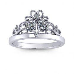 Princess Promise Ring - white gold