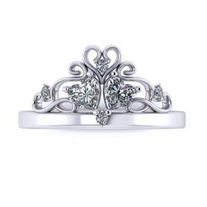 Princess Promise Ring - top view