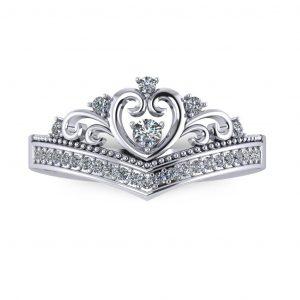 Heart Shape Tiara - top view