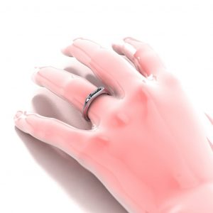 Cursive Name Ring - hand view