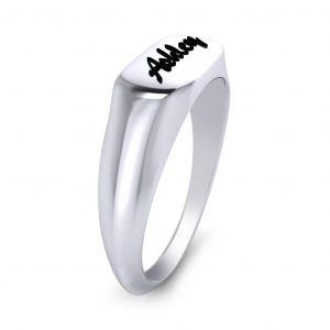 Engraved Name Ring - side view