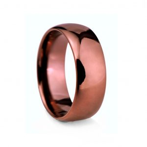 Bronze Rounded Polished Tungston Ring 8mm