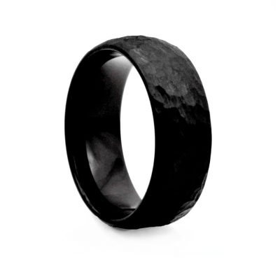 Black Hummer Finished Tungston Ring 8mm