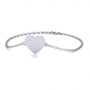 Heart Bracelet Engravable