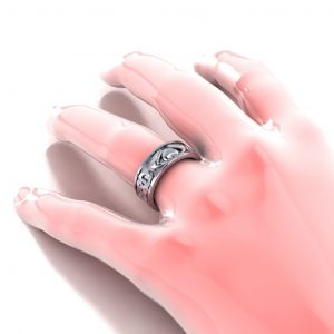 Claddagh Men's Ring - hand view