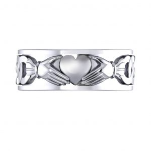 Claddagh Men's Ring - top view