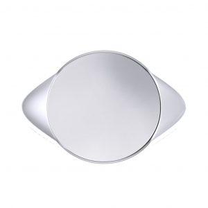 Men's Signet Round Ring - top view