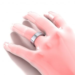 Vertical Stones Ring - hand view