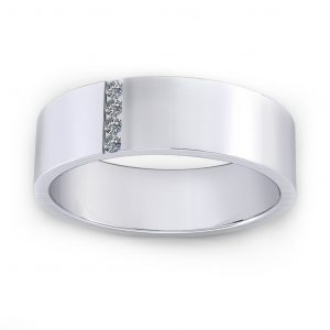 Vertical Stones Ring - white gold