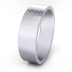 Vertical Stones Ring - side view