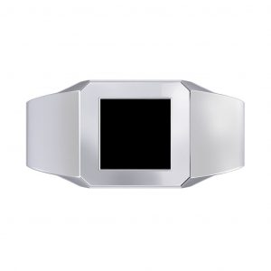 Onyx Men's Ring - top view