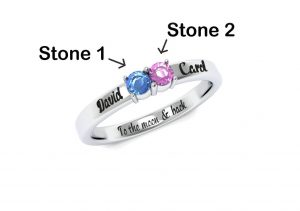 Twin Birthstone Ring