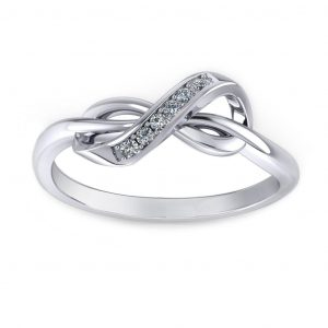 Infinity Fancy Ring - white gold