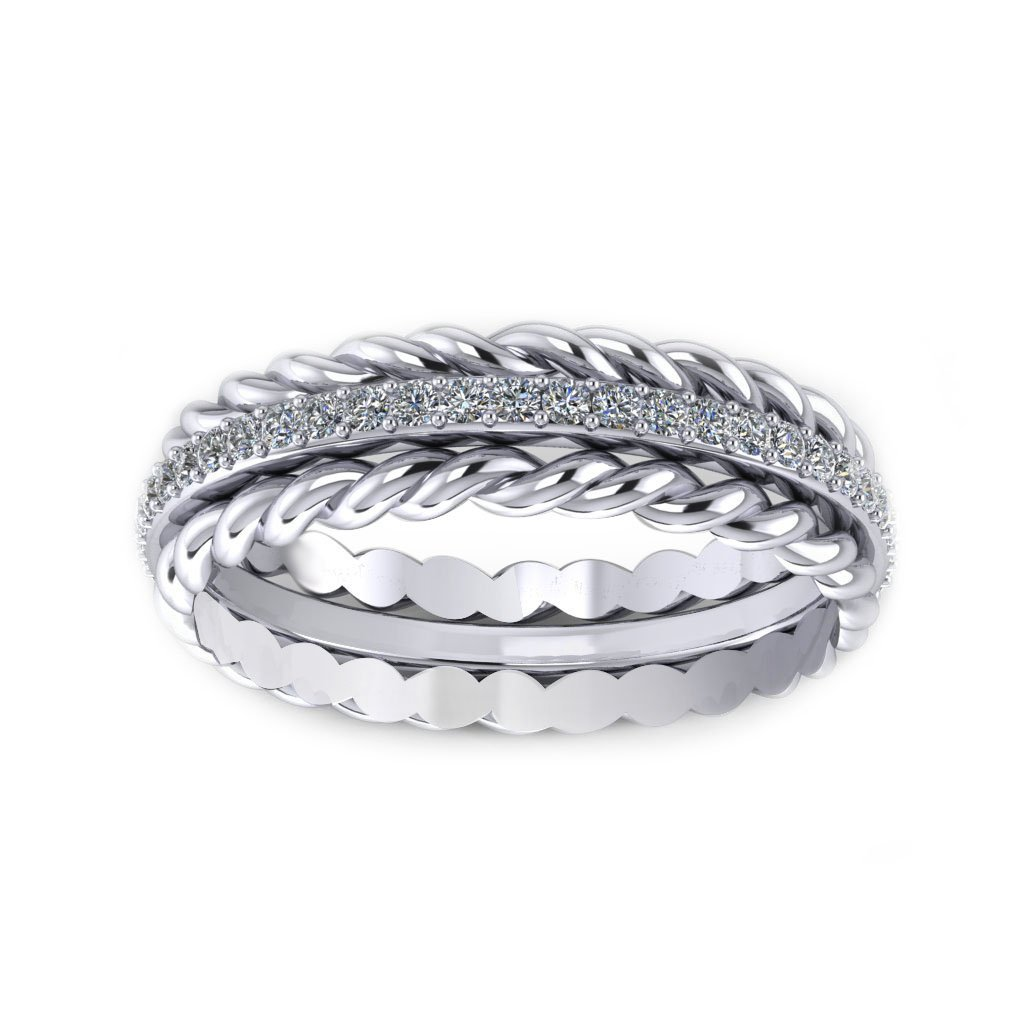 Twisted Sparkling Ring