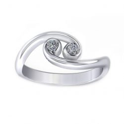 Fashionable Promise Ring - white gold