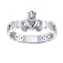 Claddagh Promise Ring - white gold
