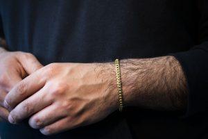 Solid Snake Franco Bracelet 5.20mm - man's hand